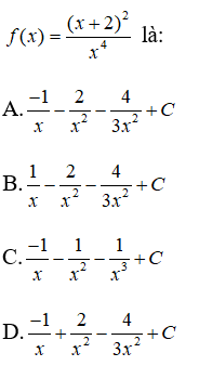 Bài tập trắc nghiệm Giải tích 12   Câu hỏi trắc nghiệm Giải tích 12