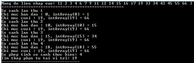 Tìm kiếm nhị phân (Binary Search) trong C