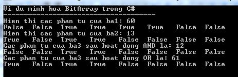 BitArray trong C#