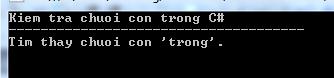 Chuỗi con trong C#