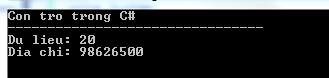 Con trỏ trong C#
