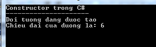 Constructor trong C#