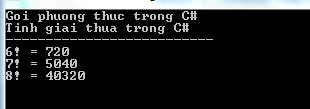 Gọi phương thức trong C#