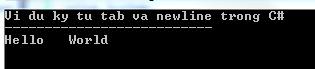 Ký tự tab trong C#