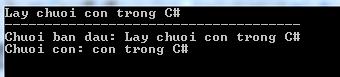 Lấy chuỗi con trong C#