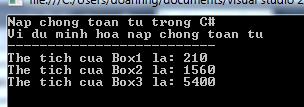 Nạp chồng toán tử trong C#