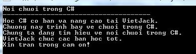 Nối chuỗi trong C#
