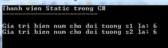 Thành viên static trong C#
