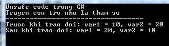 Truyền con trỏ như là tham số trong C#