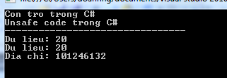 Unsafe code trong C#