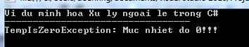 Xử lý ngoại lệ trong C#