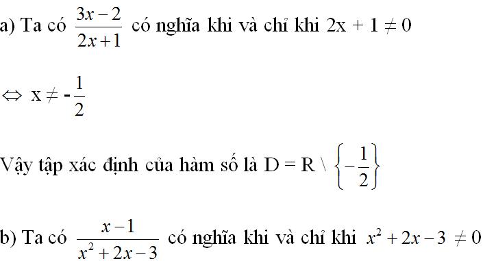 Giải bài 1 trang 38 sgk Đại số 10 | Để học tốt Toán 10