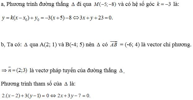 Giải bài 2 trang 80 SGK hình học 10 | Giải toán lớp 10