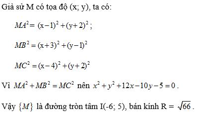 Giải bài 2 trang 93 SGK hình học 10 | Giải toán lớp 10