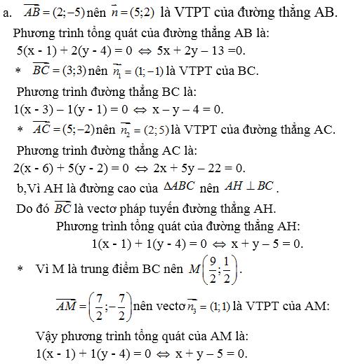Giải bài 3 trang 80 SGK hình học 10 | Giải toán lớp 10