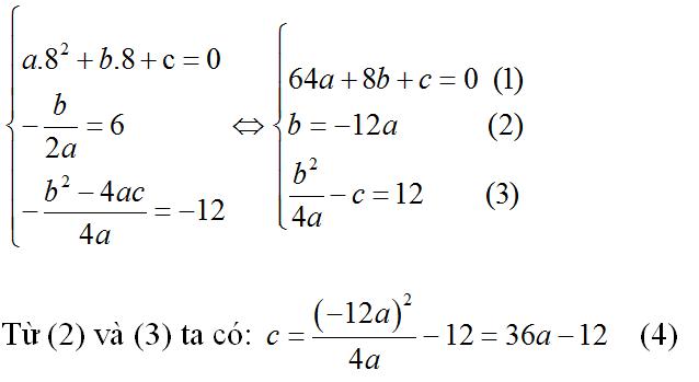 Giải bài 4 trang 50 sgk Đại số 10 (Bài 3: Hàm số bậc hai) | Để học tốt Toán 10