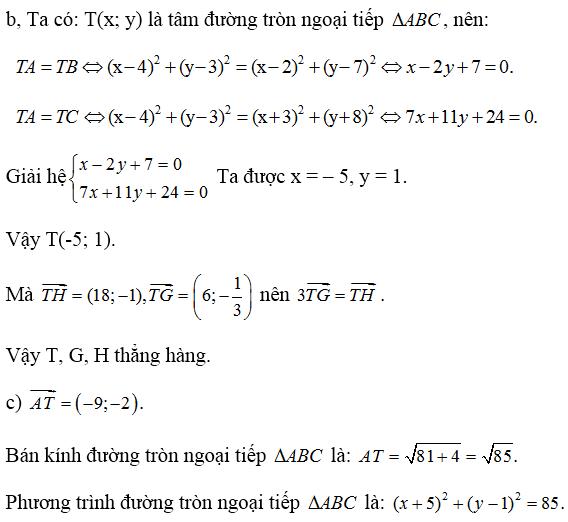 Giải bài 5 trang 93 SGK hình học 10   Giải toán lớp 10