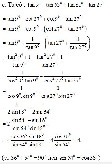 Giải bài 9 trang 161 SGK Đại Số 10 | Giải toán lớp 10