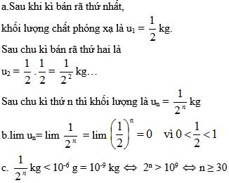 Giải bài 1 trang 121 sgk Đại Số 11 | Để học tốt Toán 11
