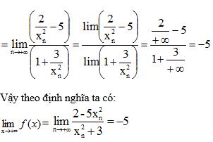 Giải bài 1 trang 132 sgk Đại Số 11 | Để học tốt Toán 11
