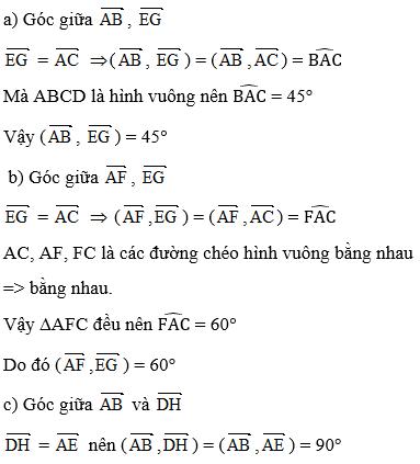 Giải bài 1 trang 97 sgk Hình học 11 | Để học tốt Toán 11