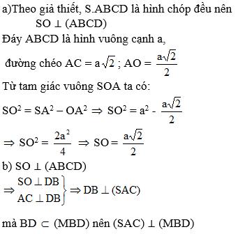Giải bài 10 trang 114 sgk Hình học 11 | Để học tốt Toán 11