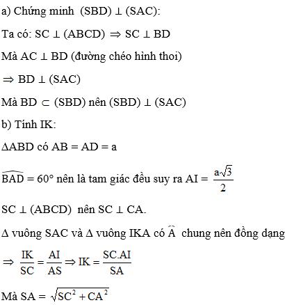 Giải bài 11 trang 114 sgk Hình học 11 | Để học tốt Toán 11