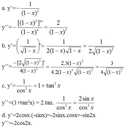Giải bài 2 trang 174 sgk Đại Số 11 | Để học tốt Toán 11