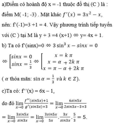 Giải bài 20 trang 181 sgk Đại số 11 | Để học tốt Toán 11