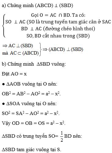 Giải bài 6 trang 114 sgk Hình học 11 | Để học tốt Toán 11