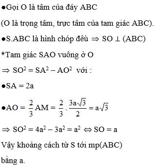 Giải bài 7 trang 120 sgk Hình học 11   Để học tốt Toán 11