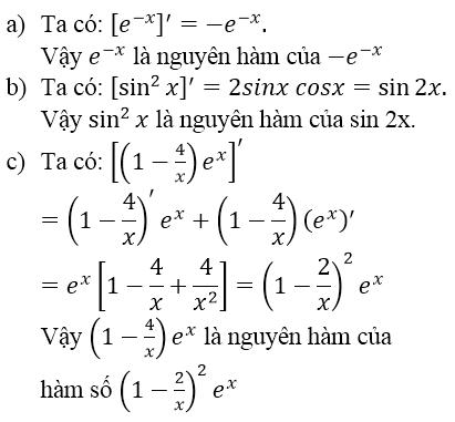 Giải bài 1 trang 100 sgk Giải tích 12 | Để học tốt Toán 12