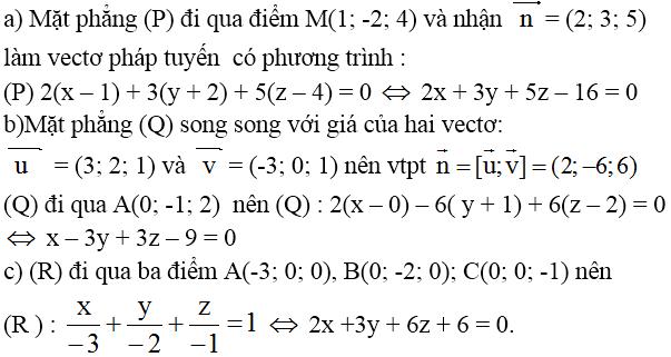Giải bài 1 trang 80 sgk Hình học 12 | Để học tốt Toán 12