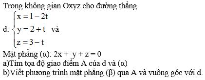 Giải bài 10 trang 101 sgk Hình học 12 | Để học tốt Toán 12