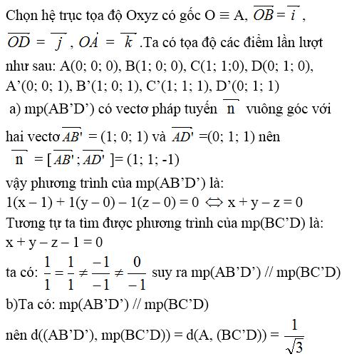 Giải bài 10 trang 81 sgk Hình học 12 | Để học tốt Toán 12
