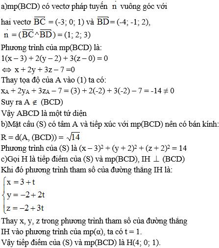 Giải bài 12 trang 101 sgk Hình học 12 | Để học tốt Toán 12