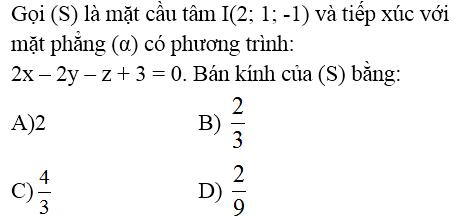 Giải bài 15 trang 97 sgk Hình học 12 | Để học tốt Toán 12