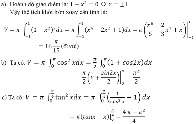 Giải bài 4 trang 121 sgk Giải tích 12 | Để học tốt Toán 12