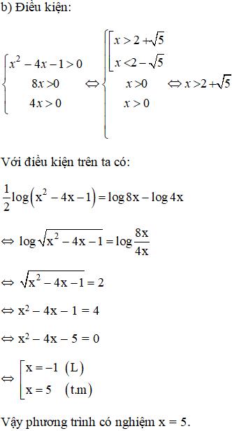 Giải bài 4 trang 85 sgk Giải tích 12   Để học tốt Toán 12