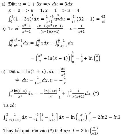 Giải bài 5 trang 113 sgk Giải tích 12   Để học tốt Toán 12