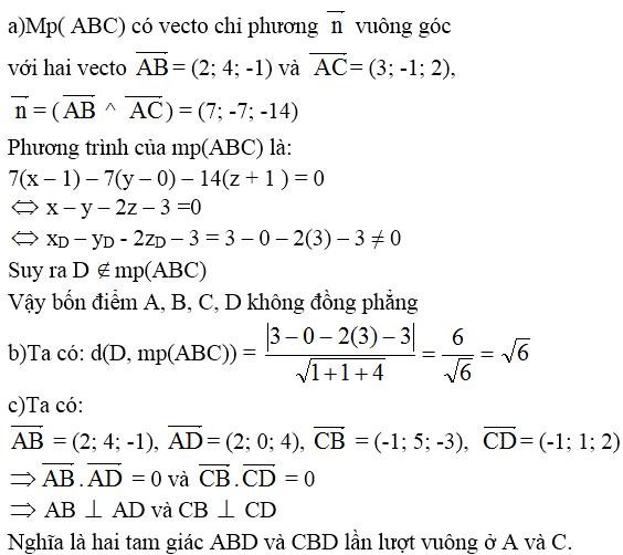 Giải bài 8 trang 100 sgk Hình học 12 | Để học tốt Toán 12