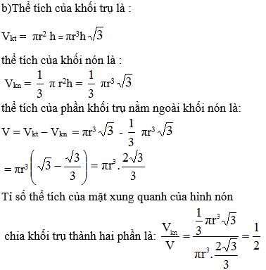 Giải bài 8 trang 40 sgk Hình học 12   Để học tốt Toán 12