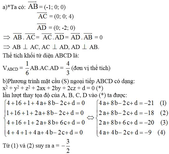 Giải bài 9 trang 100 sgk Hình học 12 | Để học tốt Toán 12