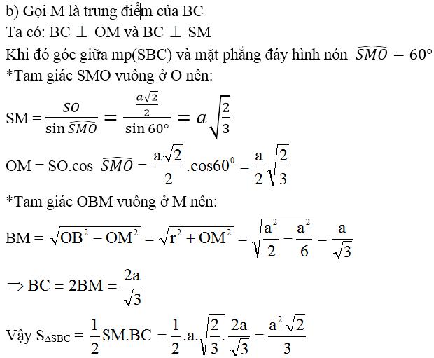 Giải bài 9 trang 40 sgk Hình học 12 | Để học tốt Toán 12