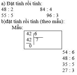 Giải bài 1 trang 28 sgk Toán 3   Để học tốt Toán 3