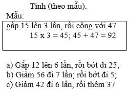 Giải bài 4 trang 52 sgk Toán 3 | Để học tốt Toán 3