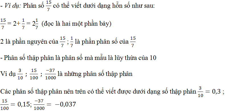 Câu hỏi ôn tập chương 3 trang 62 SGK Toán 6 Tập 2   Giải toán lớp 6