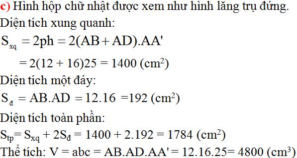 Giải bài 10 trang 132 SGK Toán 8 Tập 2 | Giải toán lớp 8