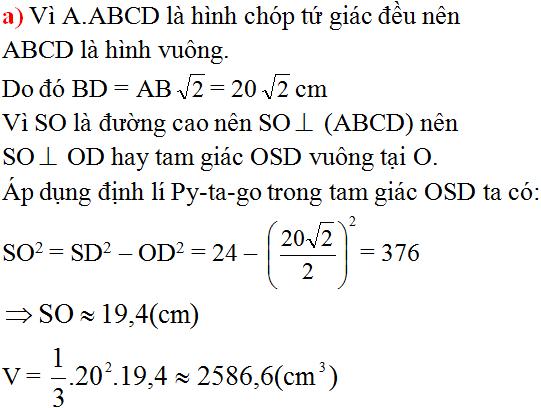 Giải bài 11 trang 132 SGK Toán 8 Tập 2 | Giải toán lớp 8