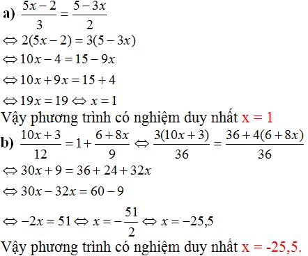 Giải bài 12 trang 13 SGK Toán 8 Tập 2   Giải toán lớp 8